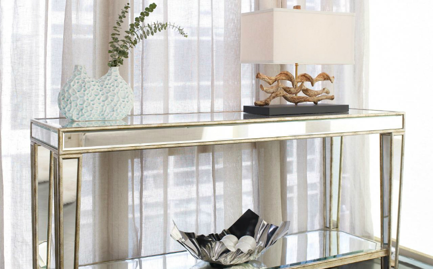 living room console tables mirrored yellow images best brass and mirror modern
