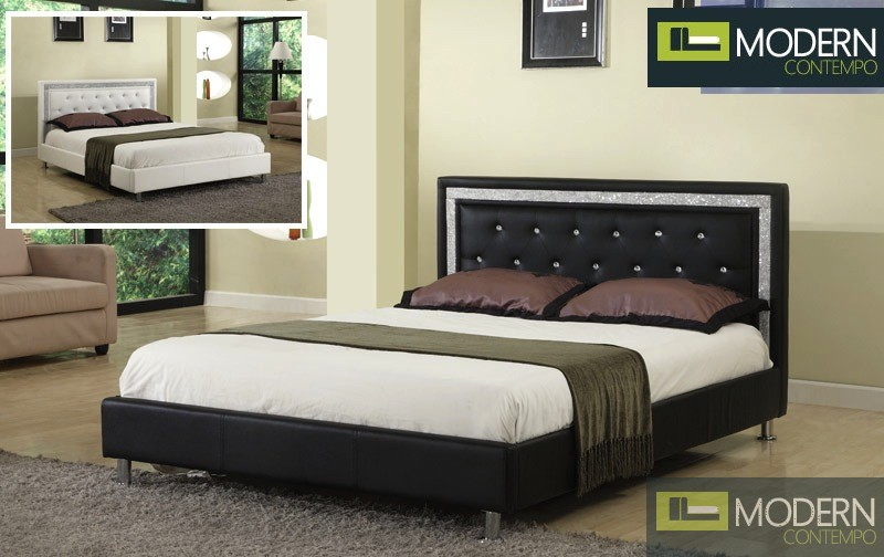 Tuscany Platform Bed with Rhinestones and crystals