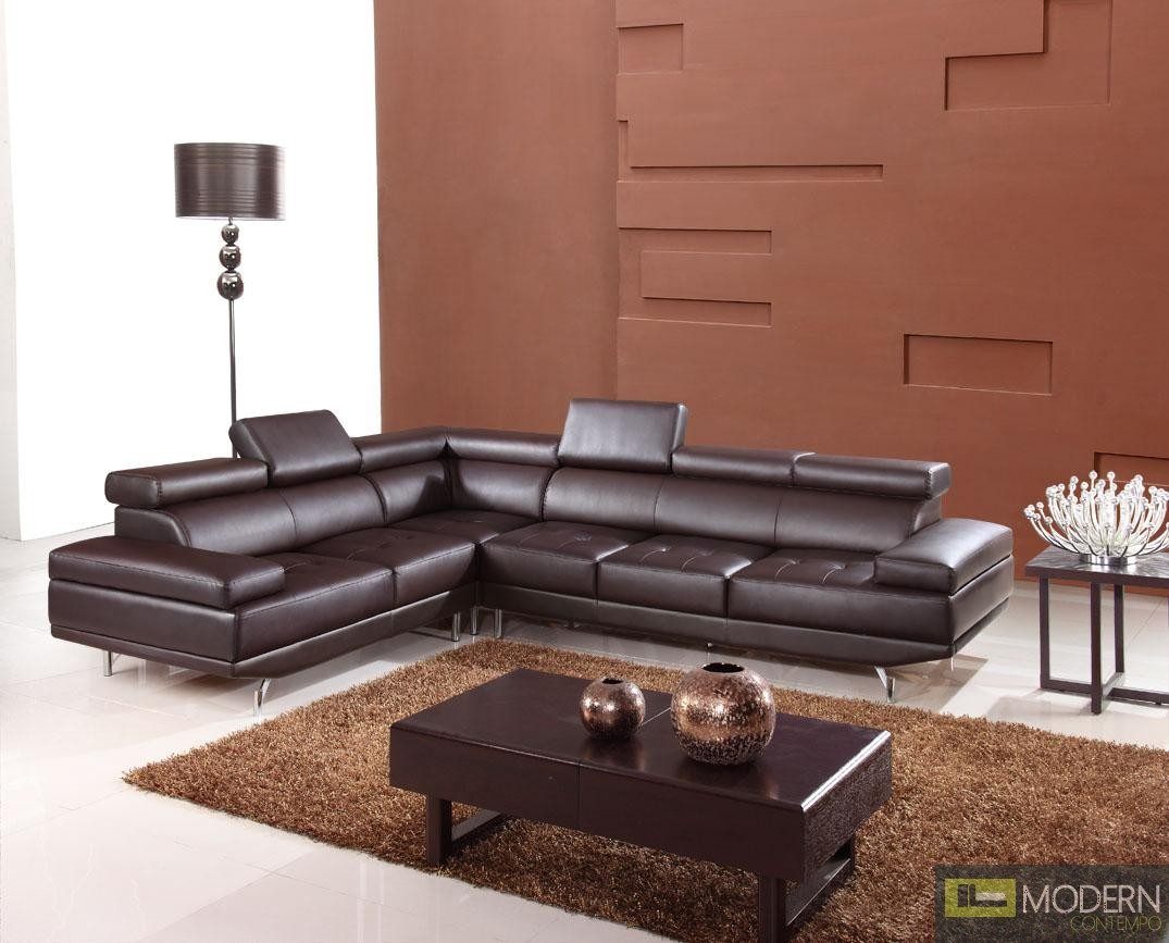 gianni corner sofa bed review does goodwill accept sofas divani casa 9054 - modern bonded leather sectional