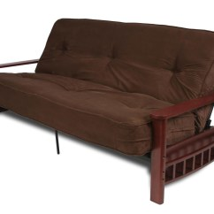 Max Coil Sofa Bed And Loveseat Sets Under 1000 Full Size 8 Quot Pocket Futon Mattress Brown Microfiber