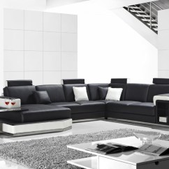 White Bonded Leather Sectional Sofa Set With Light Bentley Casual Divani Casa T2000 Modern