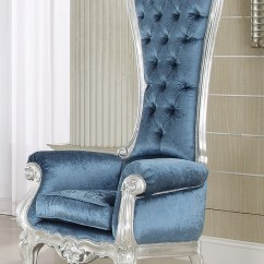 High Back Velvet Chair Medicare Lift French Style Victorian Extreme High-back Royal Throne Accent Armchair