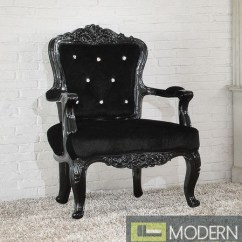 Modway Office Chair Corner Athenia Victorian Style French Accent Arm Black