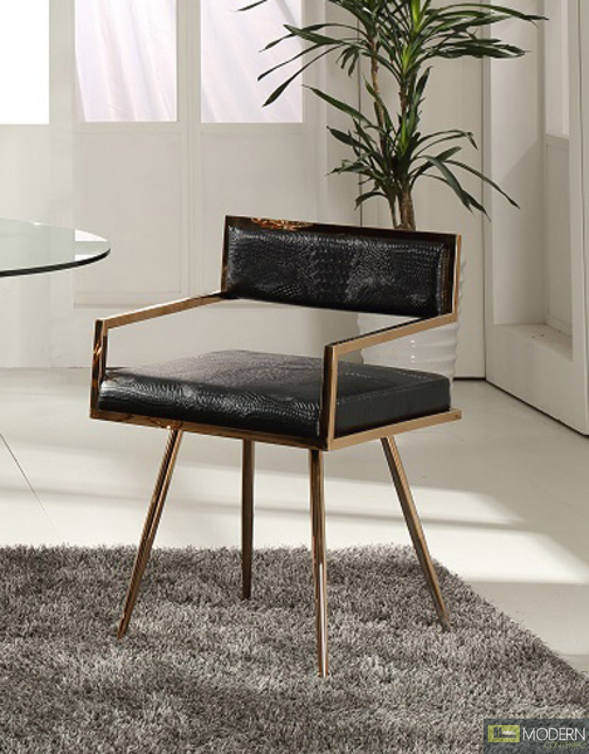 gold dining chairs cb2 office chair alejandro modern arm in black and rose