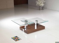 Motion Coffee Table in Walnut Base with 10mm Glass