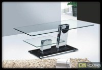 Modern Glass Top Unique Rectangular Shape Coffee Table ...