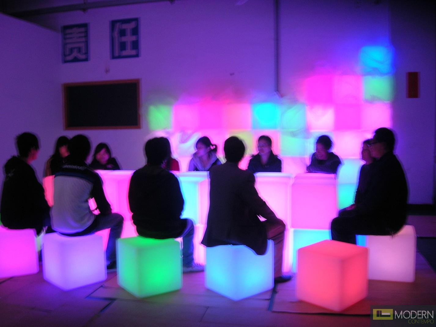 bedroom ball chair covers and sashes wholesale illuminated furniture rechargeable led cube with color change remote