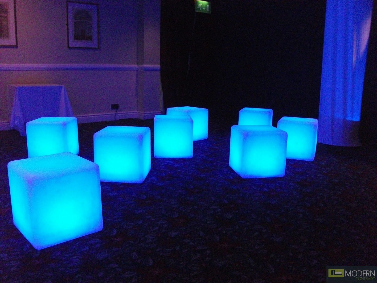 Led Chair Illuminated Furniture Rechargeable Led Cube With Color
