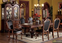 7 PC High End Cherry Finish Dining Room Set Table and ...