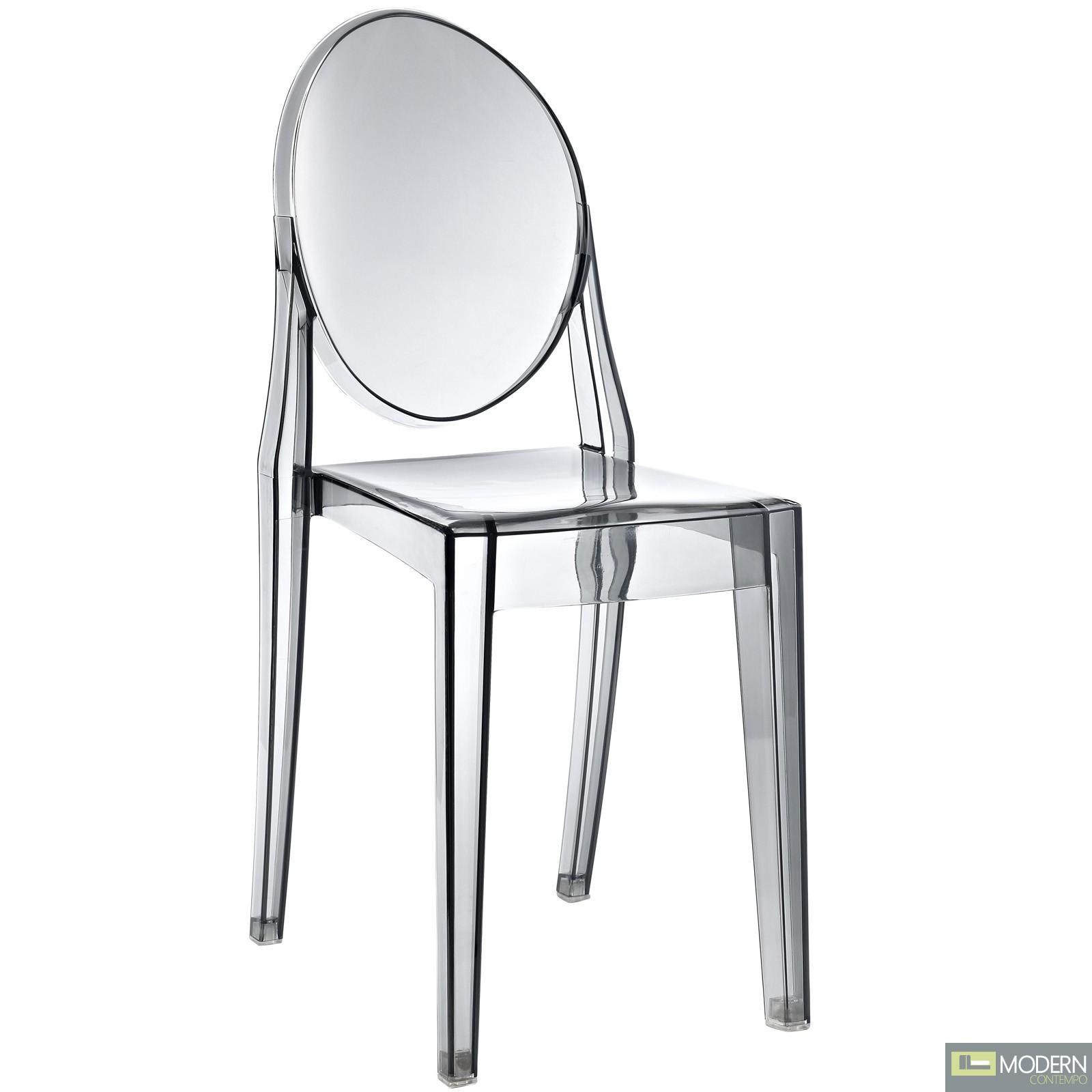 armless ghost chair the barcelona philippe starck victoria side dining clear