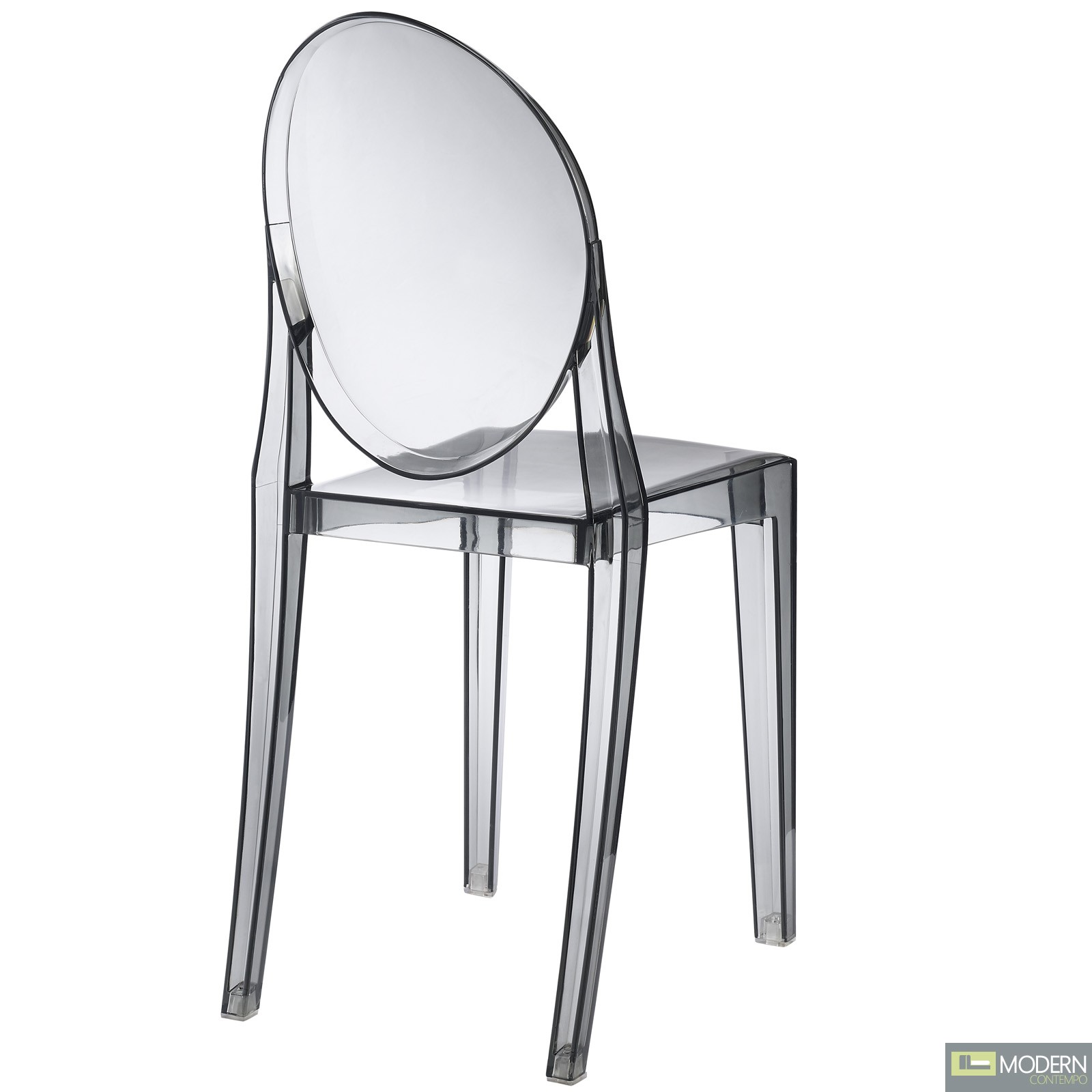 armless ghost chair high singapore review philippe starck victoria side dining clear