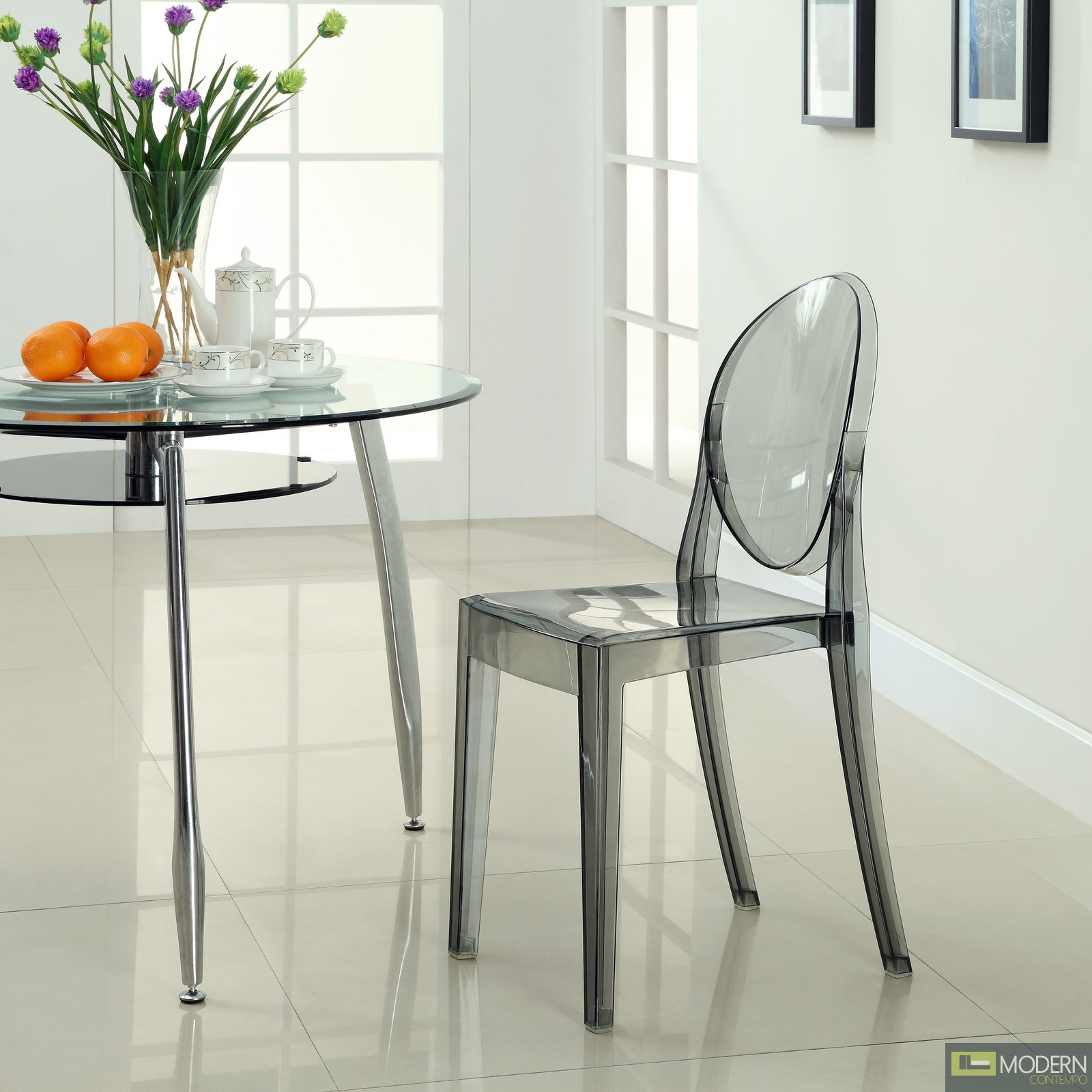armless ghost chair amazon desk philippe starck victoria side dining clear