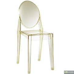 Armless Ghost Chair Painted Kitchen Chairs Philippe Starck Victoria Side Dining Clear