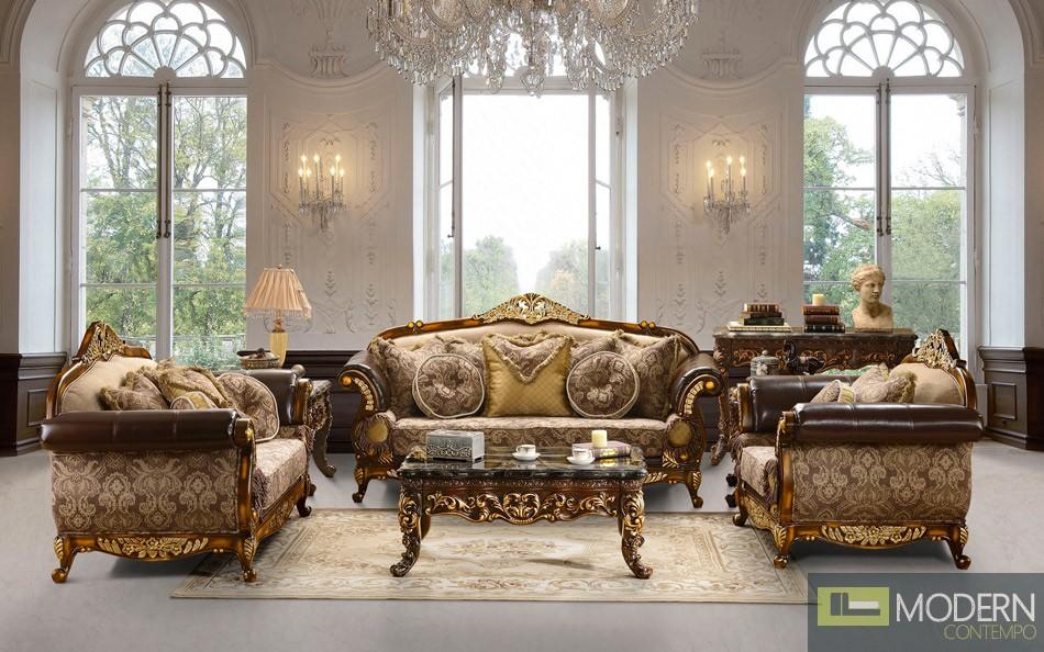 HIGHEND LUXURY Traditional Sofa Set Formal Living Room Furniture MC HD91