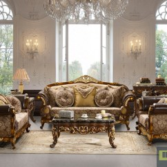 Baroque Sofa Bed Eames Compact Reproduction Highend Luxury Traditional Set Formal Living Room ...