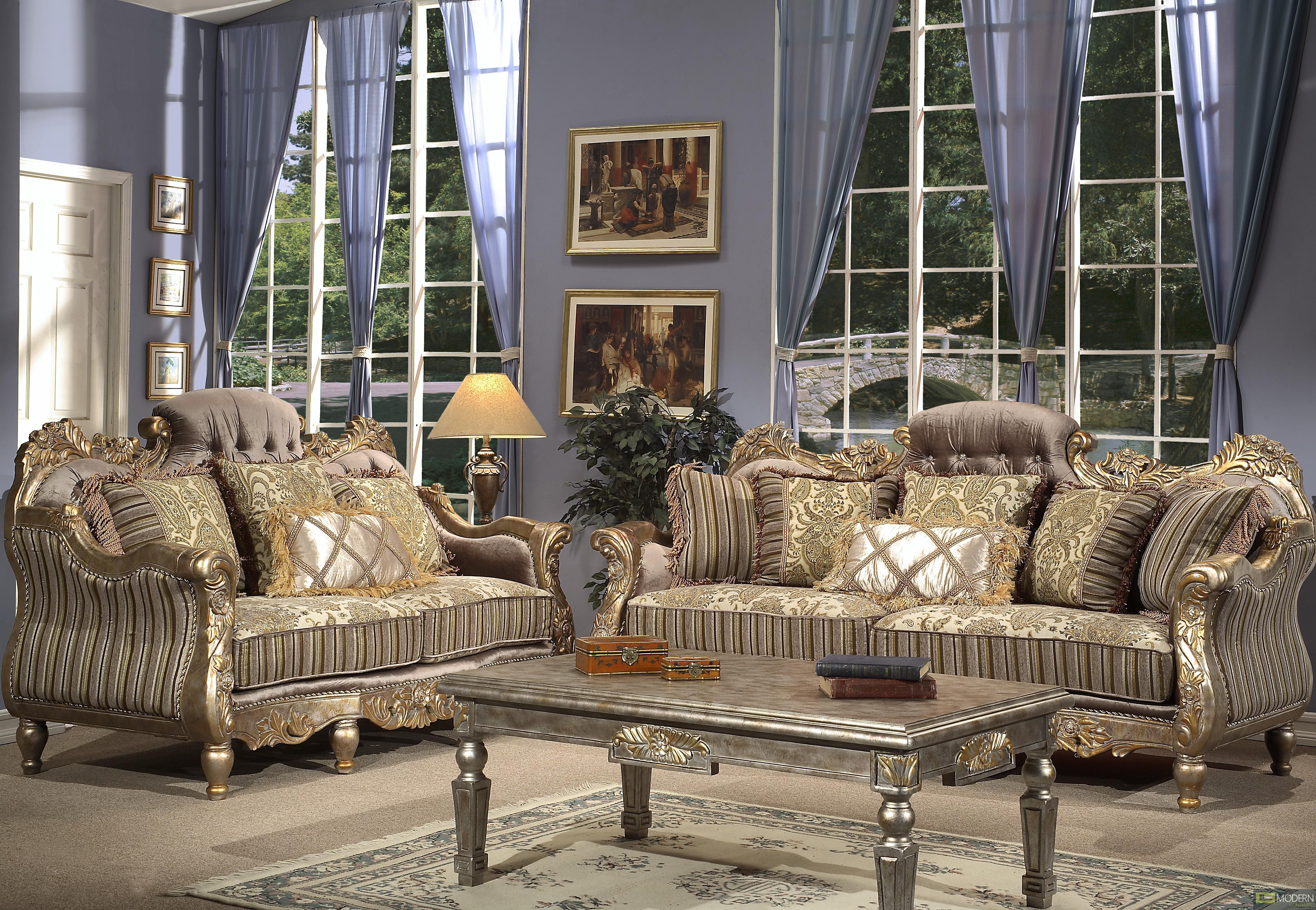 Modern Contempo  Luxury Sofa Love Seat  Chair 3 Piece