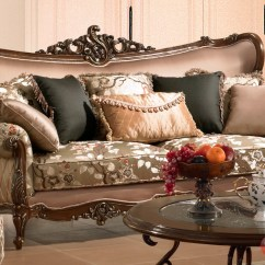 Sofa And Loveseat Set Up Grey Wicker Luxurious Traditional Style Formal Living Room Furniture ...