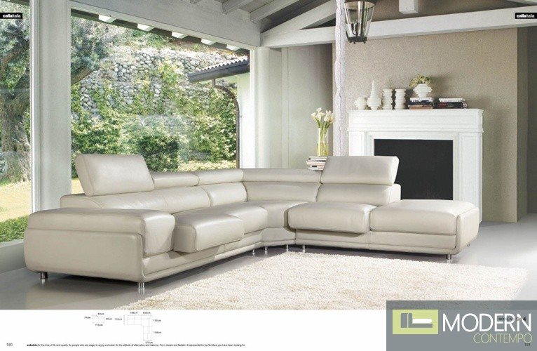 gianni corner sofa bed review king beds northampton 914 - white top grain leather l shape sectional