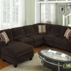 Large Chaise Sofa Dfs Reclaimed Teak Table Brown Corduroy Vista 3 Piece Sectional Ashley ...