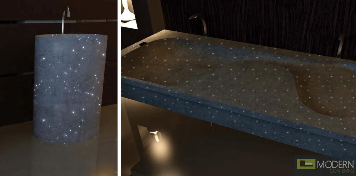 Fiber Optic Concrete Sink