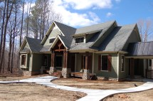 Modern Craftsman Style Home Exterior