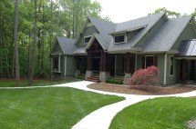 Landscaping And Final Exteriors Modern Craftsman Style Home