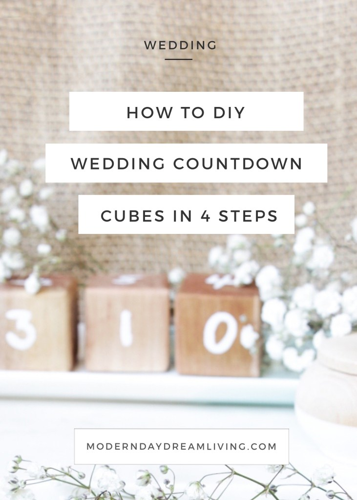 DIY Wedding Day Countdown Cubes