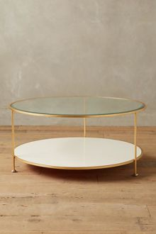 Shop: Large Round Gold Table / Modern Daydream Living