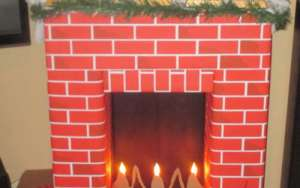 DIY Cardboard Fake Fireplace ~ Christmas Fireplace for our Granddaughter