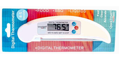 Quick Temp Instant Read Digital Kitchen Food Thermometer