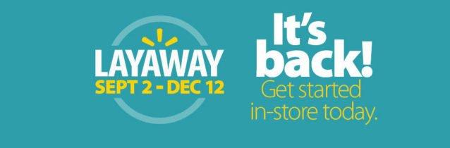 Walmart Layaway 2016