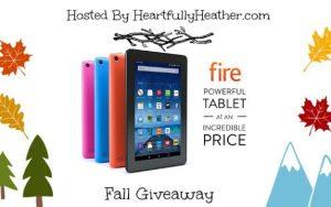 Kindle Fire Giveaway Blogger Sign Up Ends 10-18
