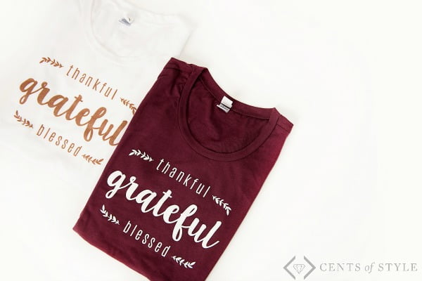 #CentsOfStyle Free Thankful T-shirt & What I am Thankful For
