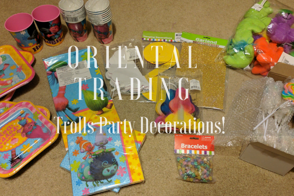 Our Granddaughter's 3! Oriental Trading #Trolls Party Decorations #AD