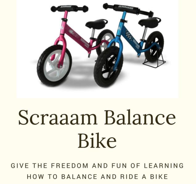 A Scraaam Balance Bike makes Learning how to Ride a Bike Fun!