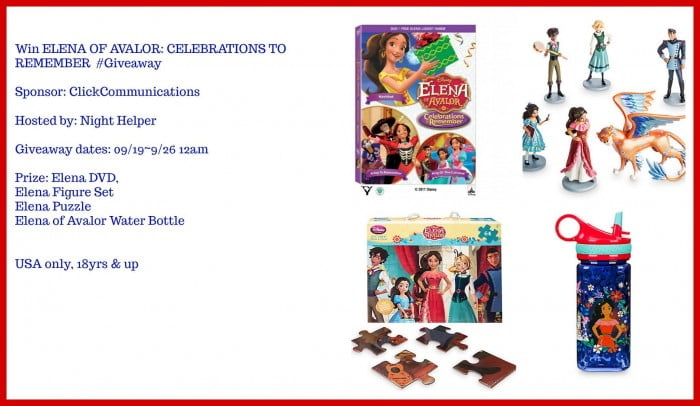 Win Elena of Avalor Celebrations to Remember Kit #Giveaway