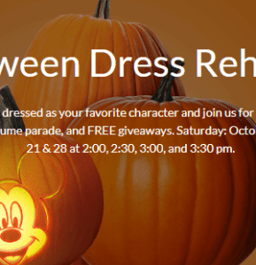 Disney Store Halloween Dress Rehearsal Event – Local Reader Dates