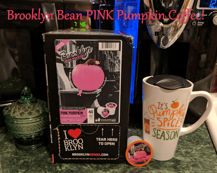 Warm Up with Brooklyn Bean Pink Pumpkin Coffee #AD #Halloween2017