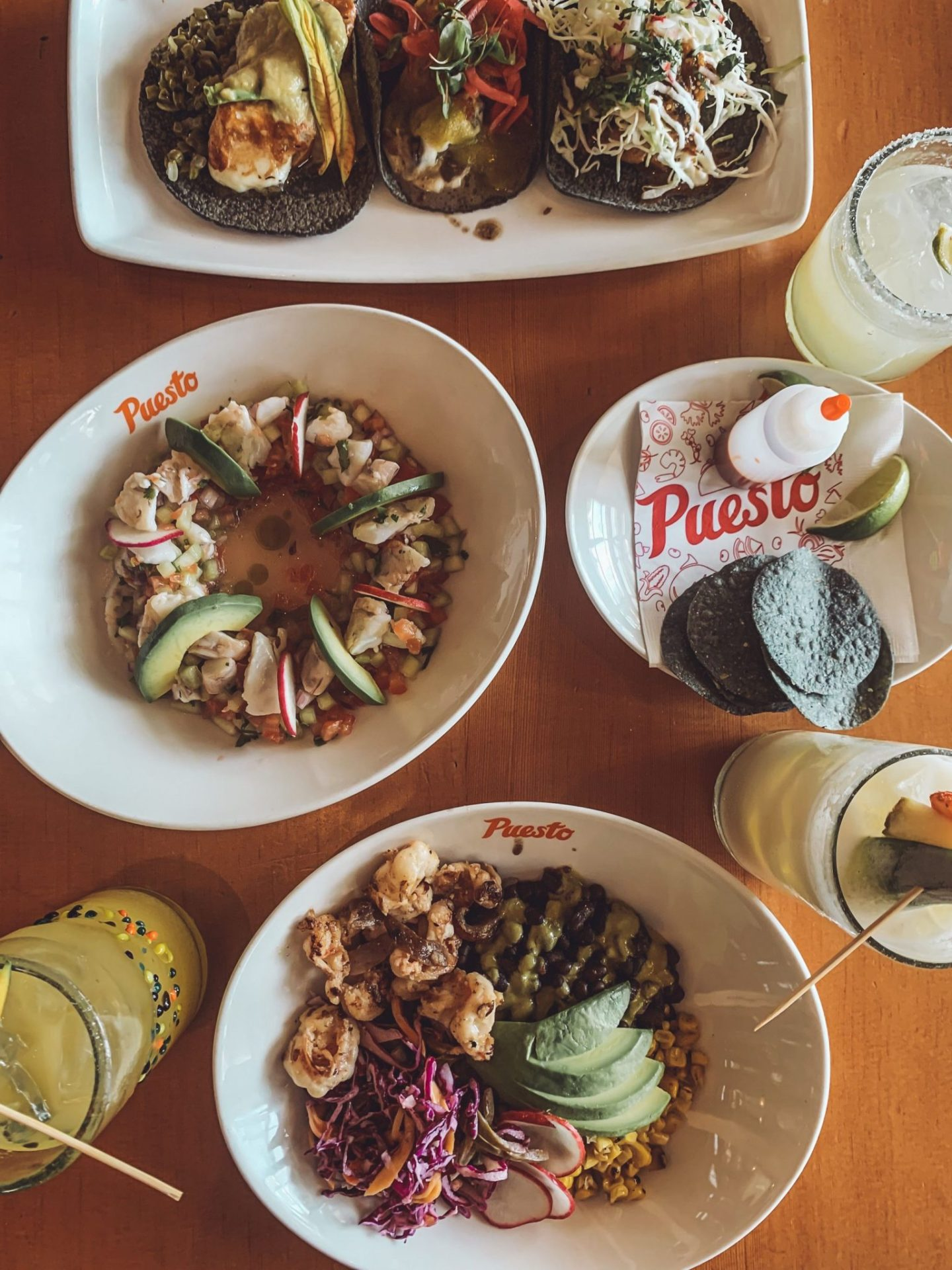 California Vacation Ideas for a Momcation in Orange County by popular Nashville travel blog, Modern Day Moguls: image of food at the Puesto restaurant.