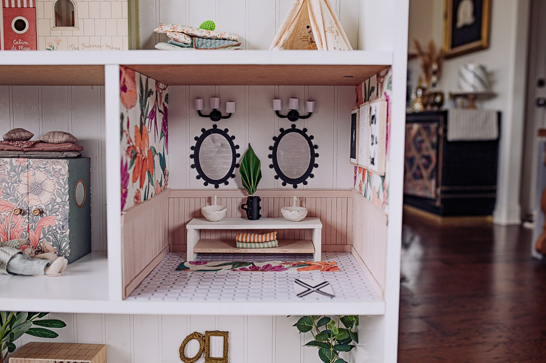 Dollhouse Accessories by popular Nashville life and style blog, Modern Day Moguls: image of a white dollhouse.