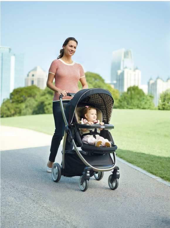 The Graco Modes Click Connect travel system is three strollers in one -- offering the versatility and value of an infant car seat carrier, an infant stroller and a toddler stroller.