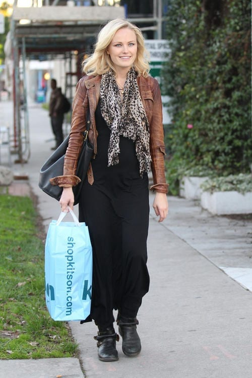 A glowing Malin Akerman makes a stop at Kitson on Melrose Avenue in West Hollywood, for some last minute holiday shopping