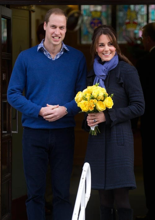 Expectant Parents Duke & Duchess of Cambridge Leave The Hospital With A Smile