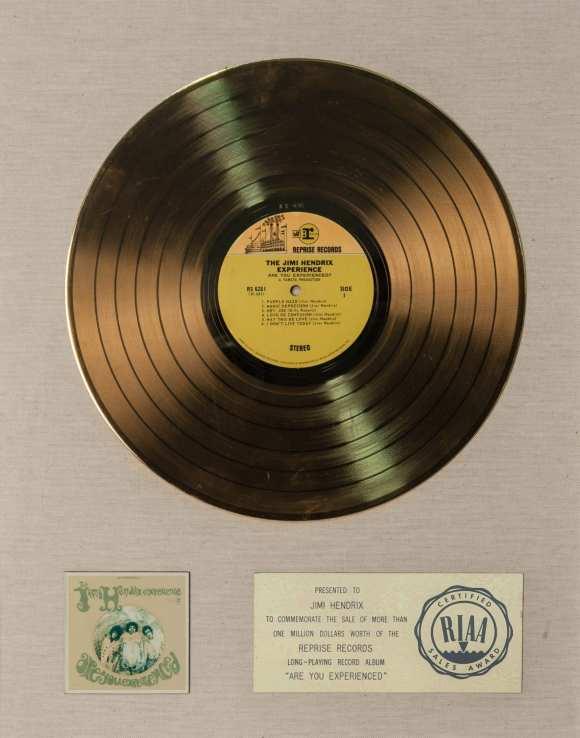 Jimi Hendrix_Are You Experienced Album Award_014679