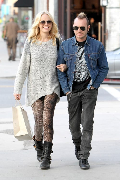 Pregnant Malin Akerman and Roberto Zincone are AllSaints Shoppers