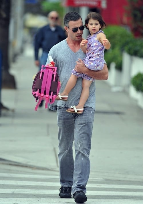 Freddie Prinze Jr. Carries His Daughter To School