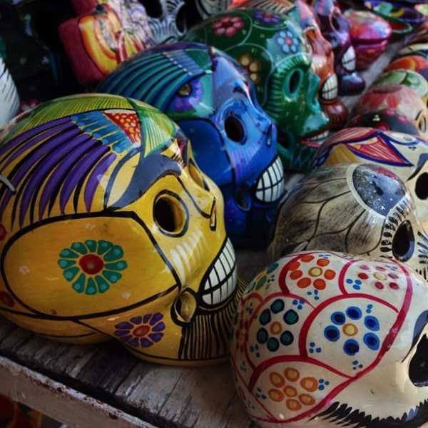 Back home from Mexico looking through photos. Can't wait to share the article. In the meantime, I loved these little skulls at a market in Bucerias.