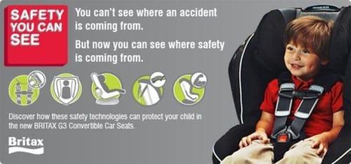 BRITAX CHILD SAFETY INC. G3 CONVERTIBLE CAR SEATS