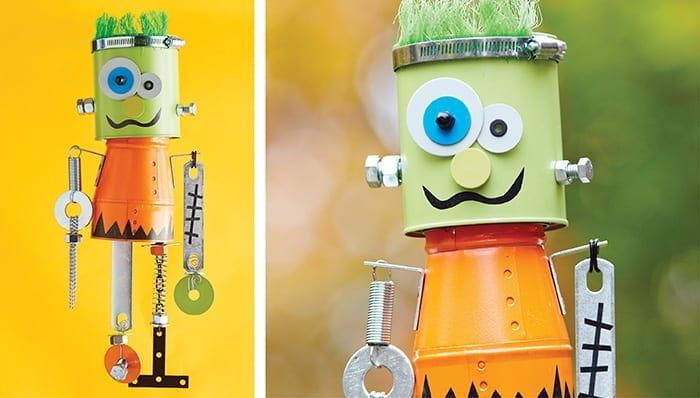 assemble odds and ends from your workshop or the lowes hardware aisle to build frankenchimes clanking halloween wind chimes