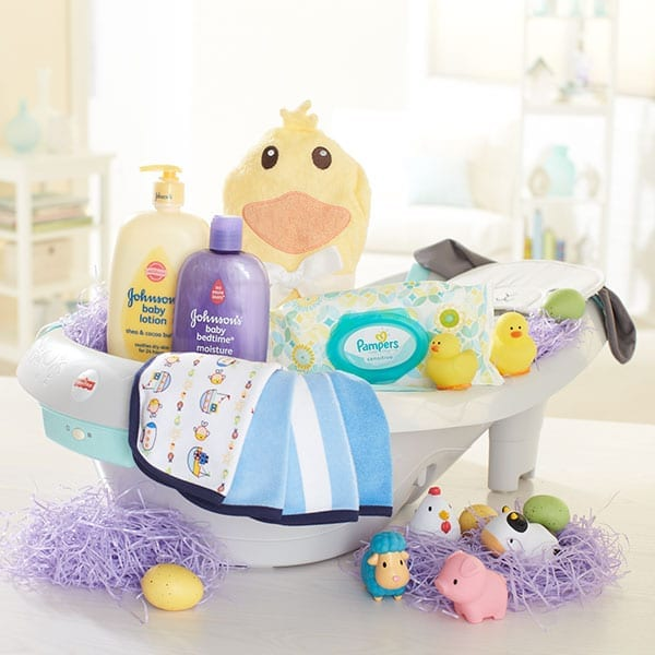 Celebrating babys first easter at babiesrus modern day moms duck easter basket negle Choice Image